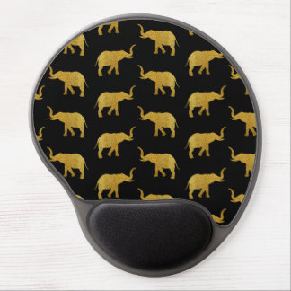 Tapis De Souris Gel Éléphants d'or de parties scintillantes