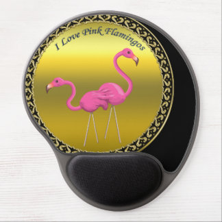 Tapis De Souris Gel Flamants roses tenant ensemble la texture de