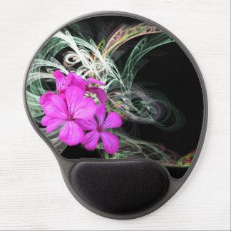 Tapis De Souris Gel Fleur rose Fractual
