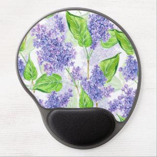 Tapis De Souris Gel Fleurs de lilas d'aquarelle