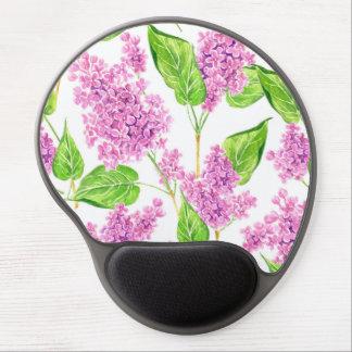 Tapis De Souris Gel Fleurs roses de lilas d'aquarelle