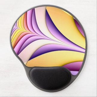 Tapis De Souris Gel Fractale colorée par pastel. Jaune, rose, pourpre
