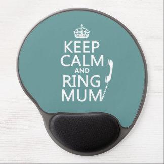 Tapis De Souris Gel Gardez la maman de calme et d'anneau - toutes les