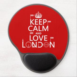 Tapis De Souris Gel Gardez le calme et aimez Londres
