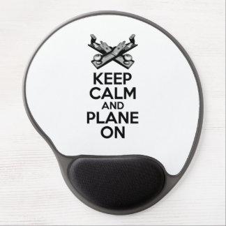 Tapis De Souris Gel Gardez le calme et l'avion dessus