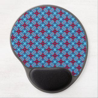 Tapis De Souris Gel Gel bleu Mousepad de kaléidoscope vintage de