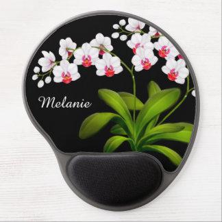 Tapis De Souris Gel Gel floral blanc personnalisable Mousepad
