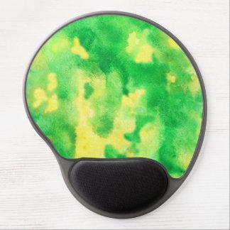 Tapis De Souris Gel Gel Mousepad d'aquarelle de vert jaune