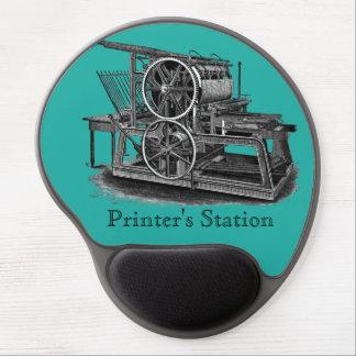 Tapis De Souris Gel Gel Mousepad de presse typographique de Vieux