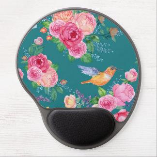 Tapis De Souris Gel Gel Mousepad - oiseaux, fleurs et papillons