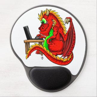Tapis De Souris Gel Gel rouge Mousepad de dragon