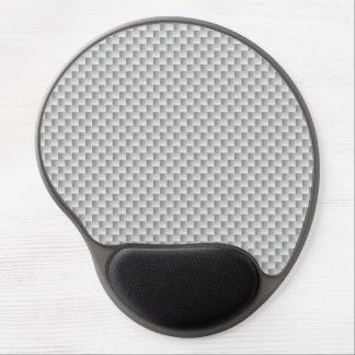 Tapis De Souris Gel Graphite blanc et gris de fibre de carbone