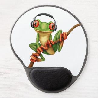 Tapis De Souris Gel Grenouille d'arbre verte personnalisable DJ avec