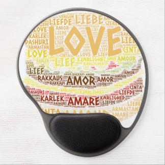 Tapis De Souris Gel Hamburger illustré avec le mot d'amour