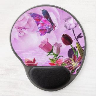 Tapis De Souris Gel image de papillons et tu fleuris