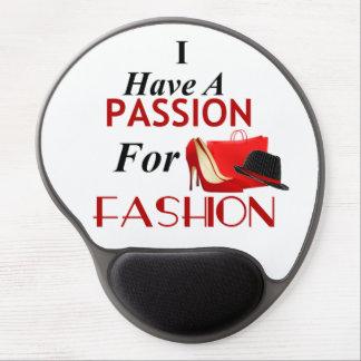 Tapis De Souris Gel J'ai une passion pour le gel Mousepad de mode