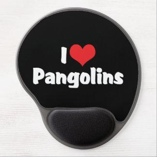 Tapis De Souris Gel J'aime des Pangolins de coeur - amant de Pangolin