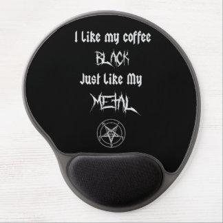 Tapis De Souris Gel J'aime mon noir de café juste comme mon métal