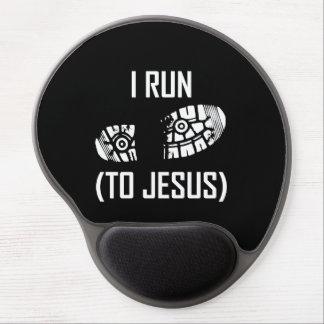 Tapis De Souris Gel Je cours à Jésus
