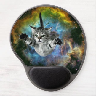 Tapis De Souris Gel Lancement de chaton d'univers de chat de galaxie