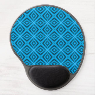 Tapis De Souris Gel Le gel vintage Mousepad de kaléidoscope de bleus