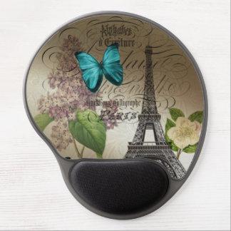 Tapis De Souris Gel le lilas scripts Tour Eiffel vintage moderne de