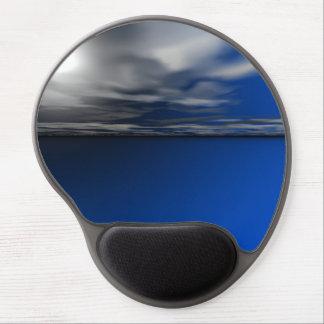 Tapis De Souris Gel L'eau calme bleue d'océan avec le ciel ensoleillé