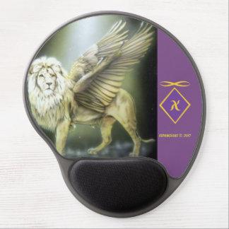 Tapis De Souris Gel Lion à ailes par blanc Mousepad