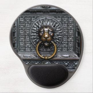 Tapis De Souris Gel Lion de heurtoir - noir/or