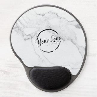 Tapis De Souris Gel Logo fait sur commande de marbre blanc élégant
