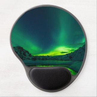 Tapis De Souris Gel Lumières du nord vertes de l'Islande