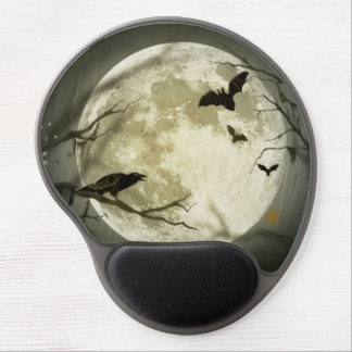 Tapis De Souris Gel Lune de Halloween - illustration de pleine lune