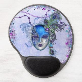 Tapis De Souris Gel Masque de mascarade de plume de paon