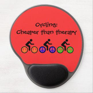 Tapis De Souris Gel message faisant du vélo humoristique