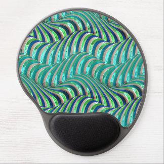 Tapis De Souris Gel Motif bleu de remous de vagues vertes de chaux