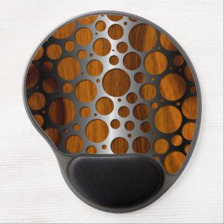 Tapis De Souris Gel Motif en bois à la mode moderne de grain en métal