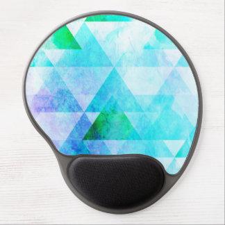 Tapis De Souris Gel Motif géométrique d'aquarelle bleue