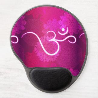 Tapis De Souris Gel Motif indien d'ornement avec le symbole d'ohm