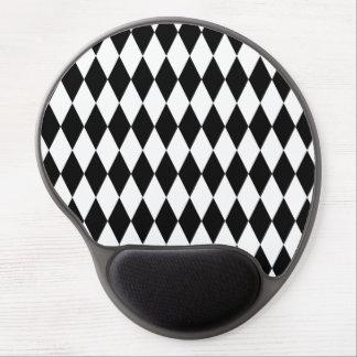 Tapis De Souris Gel Motif noir et blanc de harlequin de diamant