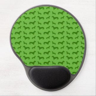Tapis De Souris Gel Motif vert clair mignon de teckel