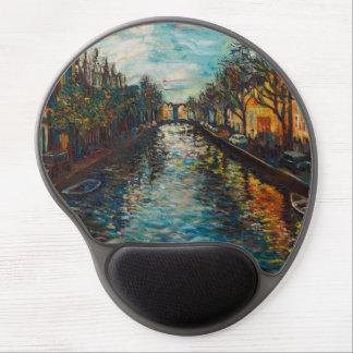 Tapis De Souris Gel Mousepad avec la vue du ` s d'Amsterdam