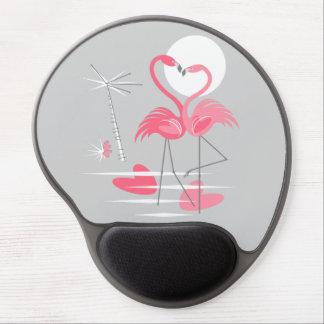 Tapis De Souris Gel Mousepad de gel d'amour de flamant