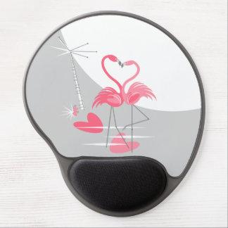 Tapis De Souris Gel Mousepad de gel de lune d'amour de flamant grand