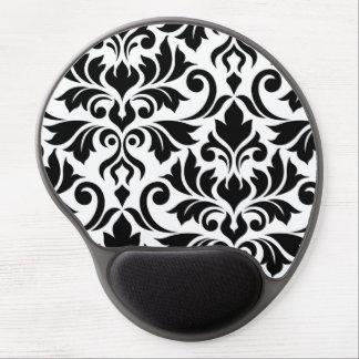 Tapis De Souris Gel Noir de l'art I de damassé de Flourish sur le