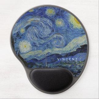 Tapis De Souris Gel Nuit étoilée Vincent van Gogh