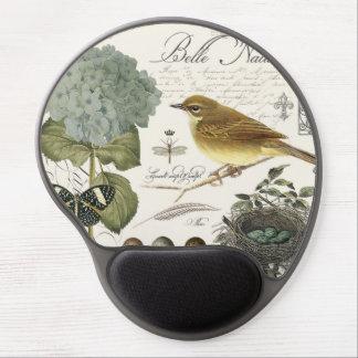 Tapis De Souris Gel oiseau et nid français vintages modernes