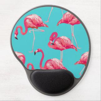 Tapis De Souris Gel Oiseaux roses de flamant sur l'arrière - plan de