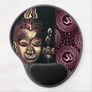 Tapis De Souris Gel Or Bouddha rose et couronne Chakras Symblos