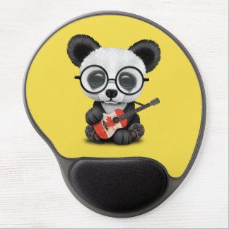 Tapis De Souris Gel Panda de bébé jouant la guitare canadienne de