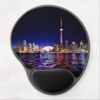 Tapis De Souris Gel Paysage urbain du centre de Toronto Canada la nuit